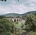 Verkeersbrug met toren uit 1900 over de Main bij Miltenberg, Bestanddeelnr 255-9995.jpg