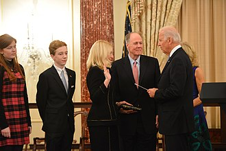 Catherine M. Russell - Image: Vice President Swears in Ambassador Russell (12001888595)