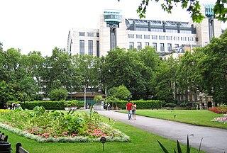 Victoria Embankment Gardens park in London, England