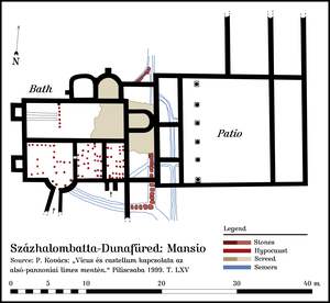 Mansio - Plan of the fort Százhalombatta-Dunafüred (Matrica, Hungary): Mansio.