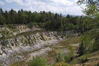 Pfahl (Bavarian Forest) - Quartz quarry on the Pfahl near Viechtach