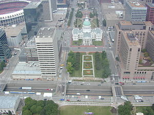 St. Louis Gateway Mall - Image: View from Arch 6