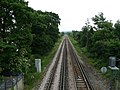 View from the Farncombe Railway footbridge towards Guildford - geograph.org.uk - 831834.jpg