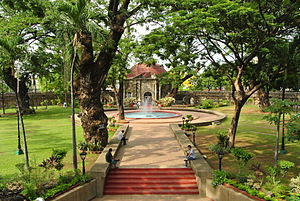 Paco Park - Image: View from the pathway at Paco Park