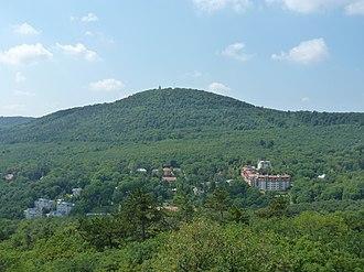 János-hegy - View of János Hill from Kis-Hárs Hill