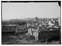 View of Jerusalem from the north city wall. Dome of the Rock prominent in centre of photo. LOC matpc.04172.jpg