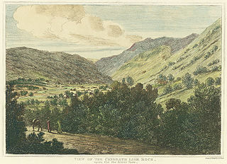 View of the Cribbath lime rock, upon the river Tawe