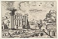 View of the Roman Forum, looking toward the Palatine Hill, from the series 'The Small book of Roman ruins and buildings' (Operum antiquorum romanorum) MET DP828783.jpg