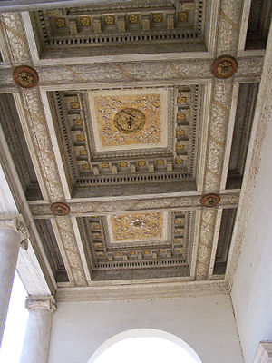 Palazzo Chiericati - Image: Villa Chiericati ceiling beams 2