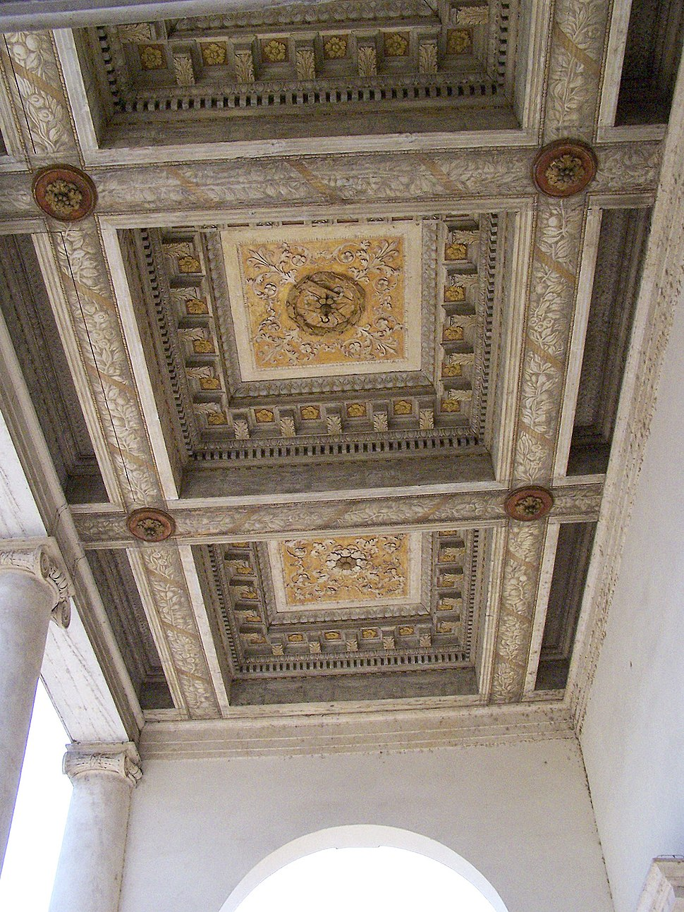 Villa Chiericati ceiling beams 2