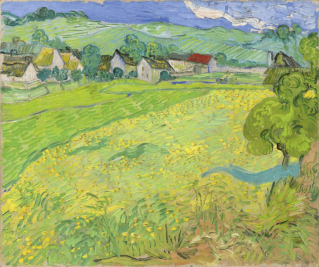"""View of Vessenots Near Auvers"" by Vincent van Gogh"