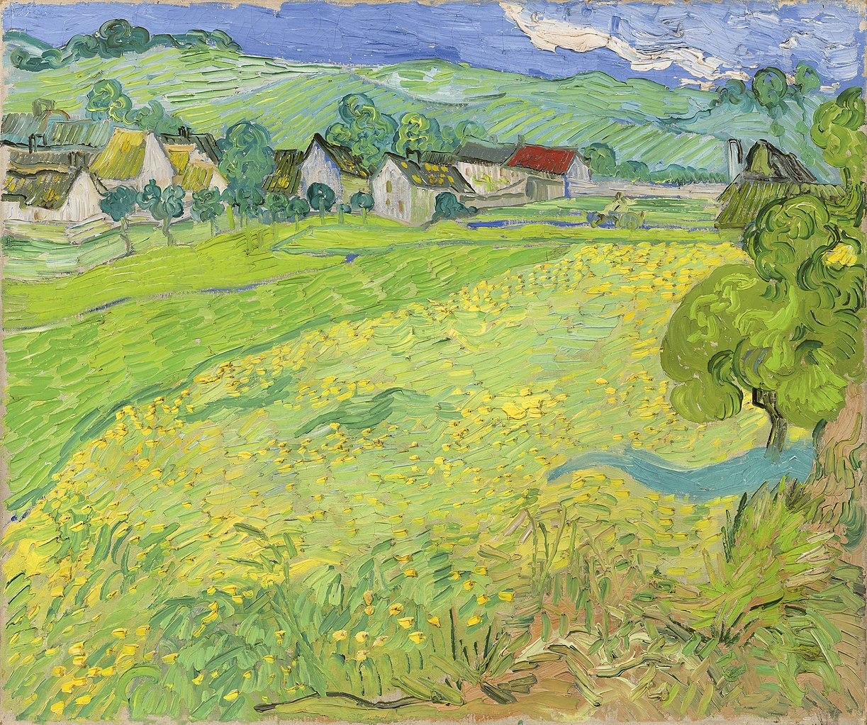 La aldea de Les Vessenots en Auvers, obra de Vincent van Gogh, perteneciente a la Colección Carmen Thyssen-Bornemisza.