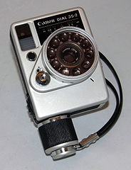 Vintage Cannon Dial 35-2 35mm Lens-Shutter Half-Frame Film Camera, Made In Japan, Circa 1968 (22883988411).jpg