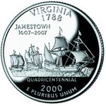 Virginia quarter, reverse side, 2000