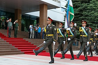 Armed Forces of the Republic of Uzbekistan - The Honour Guard Battalion at the Ministry of Defense.