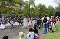 Visitors and Cosplayers in East Square of NTU Gym 20151025c.jpg