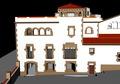 Vista d'un fragment de l'antiga fàbrica del Calisay, actualment un hotel d'entitats d'Arenys de Mar..tif
