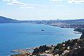 Vista de la badia d'Altes, l'illa de l'Olla i Benidorm al fons.JPG