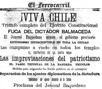 El Ferrocarril - Image: Viva Chile!, 1891