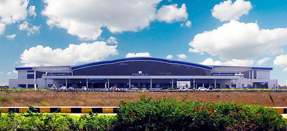 Vizag airport terminal full view
