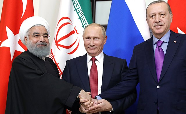 Vladimir Putin, Hassan Rouhani, Recep Tayyip Erdoan, From WikimediaPhotos