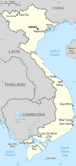 Location of Việt Nam