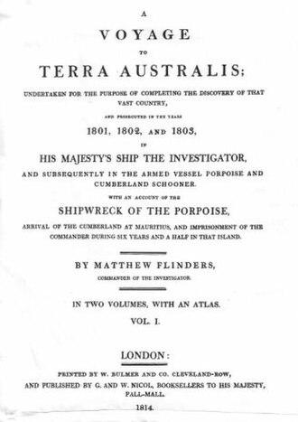 A Voyage to Terra Australis - Voyage to Terra Australis: Title Page