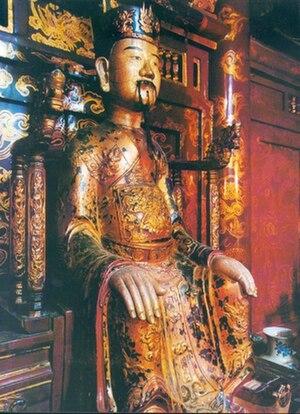 Đinh Bộ Lĩnh - A statue of emperor Đinh Tiên Hoàng in Hoa Lư