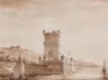 Vue de la Tour de Belem (Lisbon) by Narcisse Romagnesi.png