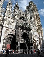 Vue generale de la cathedrale de Rouen