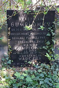 Władysław Gumplowicz grób.JPG