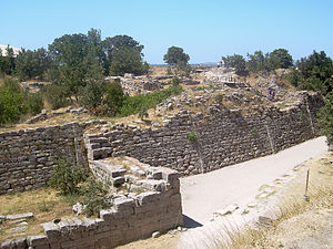 Troy - The walls of the acropolis belong to Troy VII, which is identified as the site of the Trojan War (c. 1200 BC).