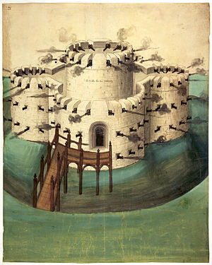 Walmer Castle - An 1539 early design for either Walmer or nearby Sandown Castle