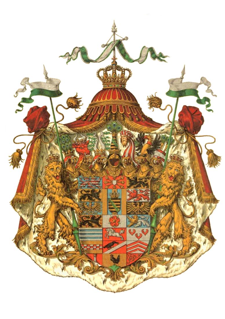 Wappen Deutsches Reich - Herzogtum Sachsen-Altenburg (Grosses)