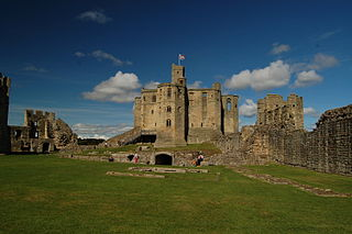 Warkworth Castle Ruined medieval castle in Warkworth, Northumberland, England