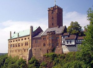Romanesque secular and domestic architecture - The heavily restored Romanesque castle of Wartburg gives an impression of the way it might have appeared in the 12th and 13th centuries
