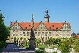Weikersheim - Schlosspark - Blick von SW zum Schloss.jpg