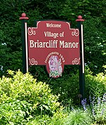 Briarcliff Manor welcome sign