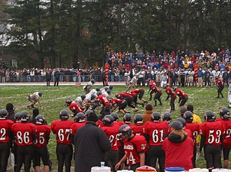 Wellesley High School - Raiders vs. Rockets in the 2005 Thanksgiving Day Game at Hunnewell Field in Wellesley