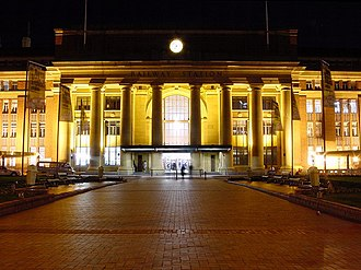 Public transport in the Wellington Region - Wellington Railway Station at night