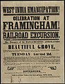 West India emancipation! Celebration at Framingham! Railroad excursion. (7645375918).jpg