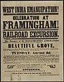 West India emancipation! Celebration at Framingham! Railroad excursion. (7645375918).jpg
