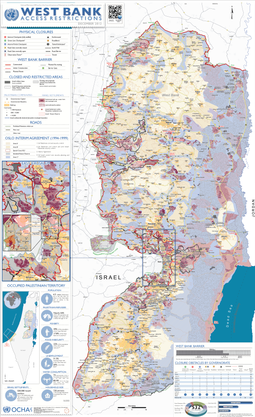 Map of Israeli settlements in the West Bank Westbank Control & Access Restrictions Dec 2012.png