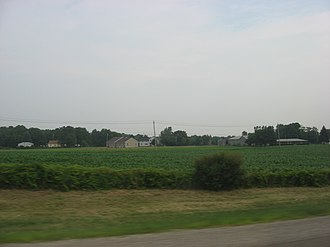 Amherst Township, Lorain County, Ohio - Houses and fields in western Amherst Township
