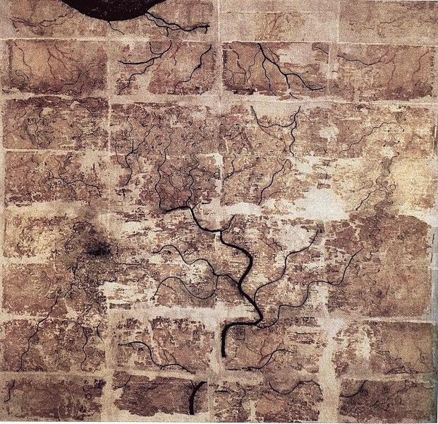 File:Western Han Mawangdui Silk Map.JPG