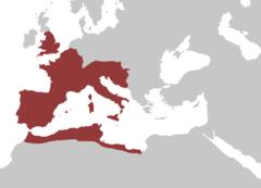 Det vestromerske rige som størst, år 395