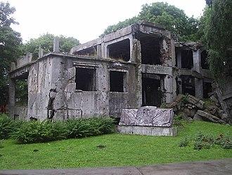 Battle of Westerplatte - Ruins of Westerplatte barracks, 2005