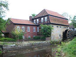 Water Mill in Weyhe, build ca. 1510, Municipal Weyhe, Lower Saxony, Germany