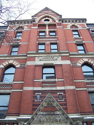 White Memorial Building (Syracuse, New York) - Image: White Building Up