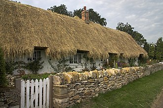 Pockley - White Cottage at Pockley, rethatching almost complete in 2007
